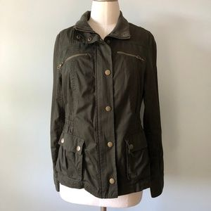 Old Navy Green Military Utility Jacket